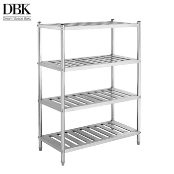 Hotel kitchen stainless steel 5 tier sparse Tier Shelving