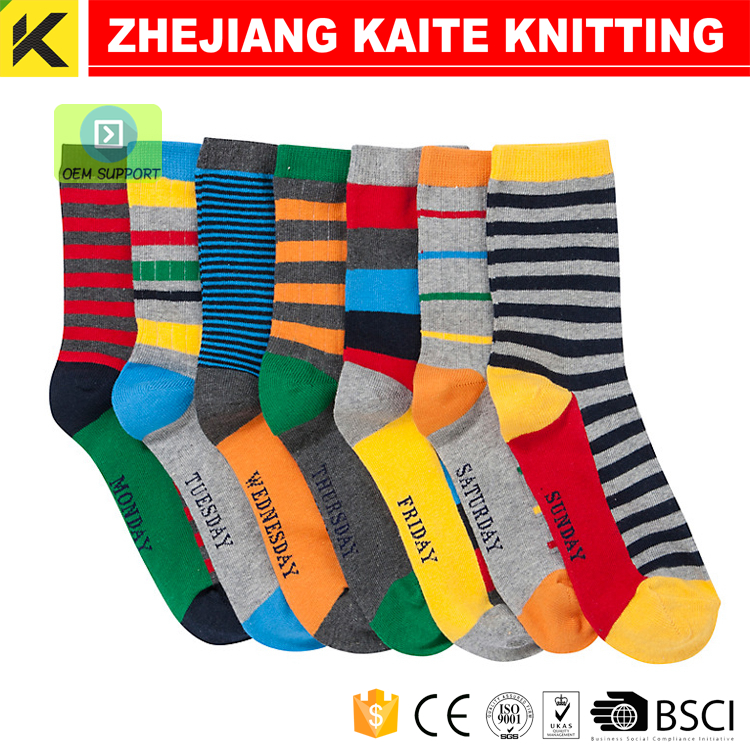KT-P-2765 days of the week socks