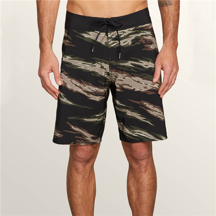 2019 New Arrival Mens Custom Surf Boardshorts 4 Way Stretch Swim <strong>Trunk</strong>