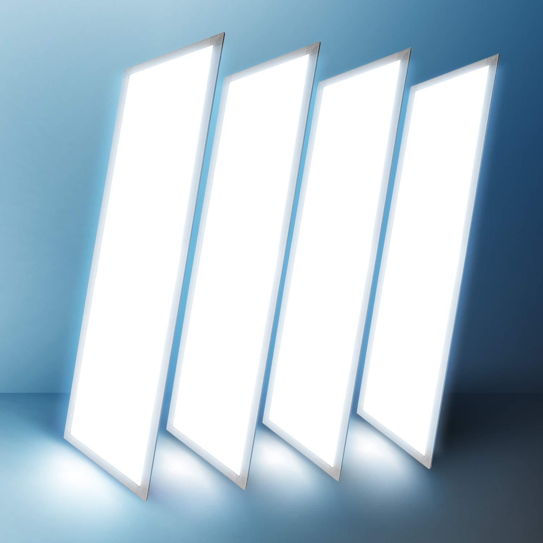 "2x4 Panel Troffer Edge-Lit Flat 5000k (4 PACK) 24"" x 48""; 50W; 5,750 Lumens= 115LM/W 120V-277V AC/DC; 0-10V Dimmable; 50,000 Life Hours; CRI>83; ..."