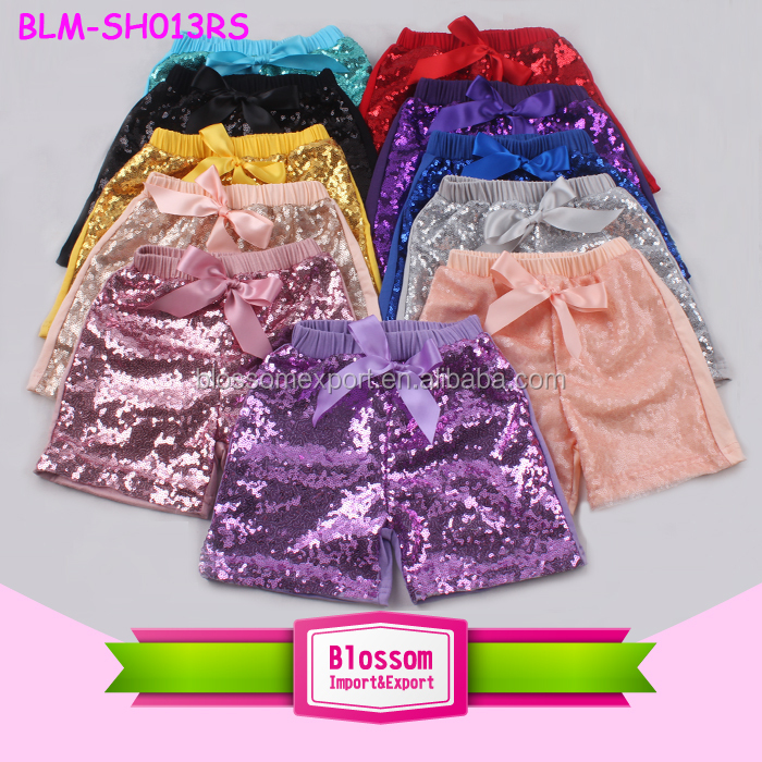 Summer Wear Baby Shiny Sparkle Kids Sequin Shorts Bling Bling Boutique Toddler Sequin Shorts Wholesale Girls