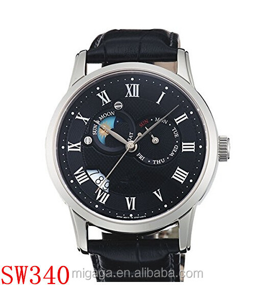 nicely Automatic Sun and Moon Watch with Sapphire Crystal