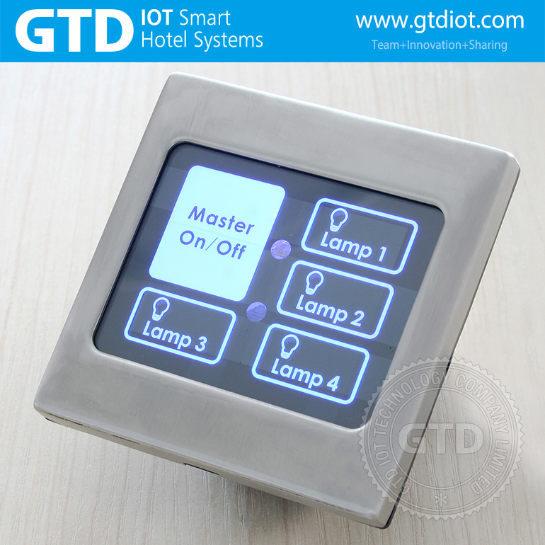 Remote control touch switch with master and master delay function