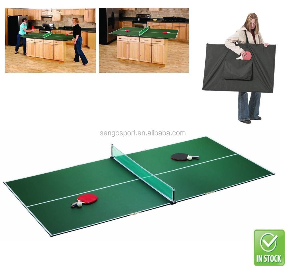 - Portable Folding Table Tennis Quick Set Conversion Top Ping Pong