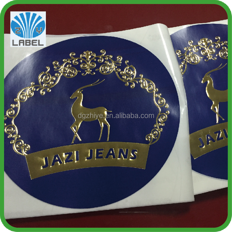 Customize Logo Printed gold foil embossed Seal Sticker with best quality