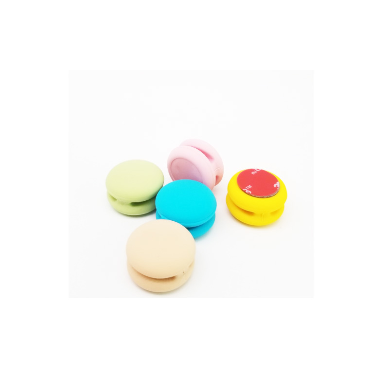 2019 Amazon macaron shape earphone headphone holder silicone earphone cover case cord organizer
