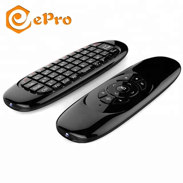 Handel assurance air mouse C120 2.4g Oplaadbare Draadloze air mouse C120 Mini Draadloze Toetsenbord tv box