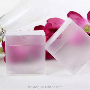 Customizable Size PVC Plastic Bomboniere favor clear wedding gift product lolly box 2 inches Cube