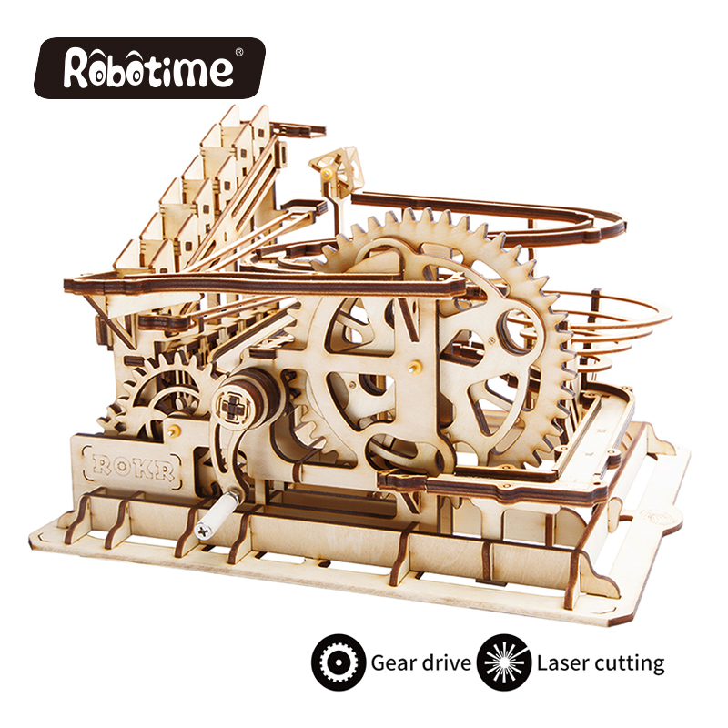 Robotime 3D Wooden Puzzles Marble mechanical gears ball toys hobbies adults and child gifts