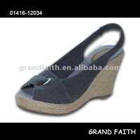 Ladies' Jeans Wedge Espadrille