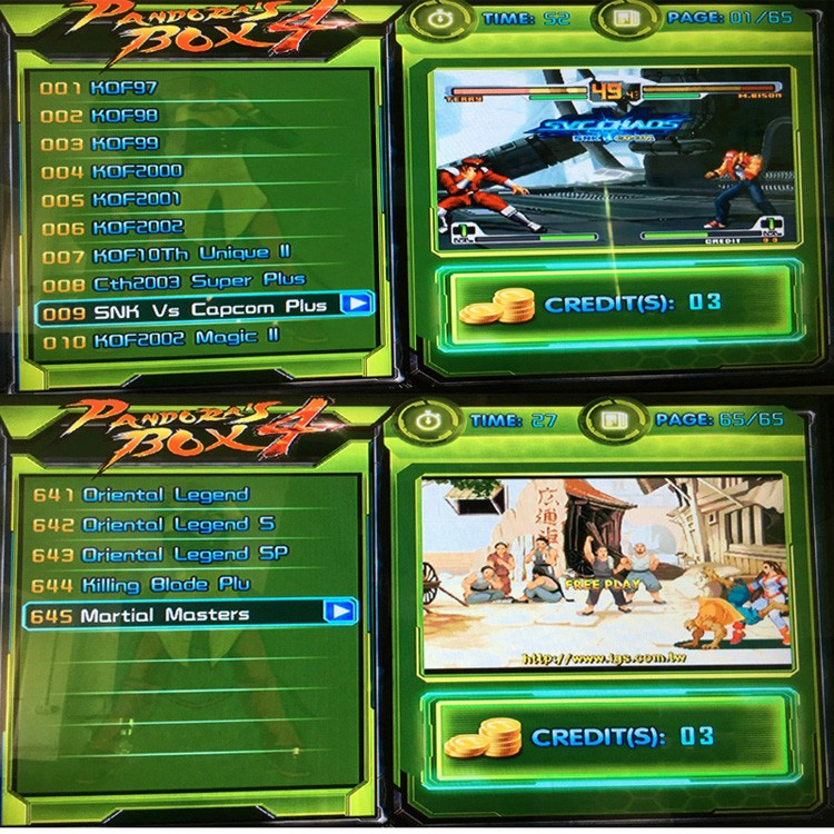 28 Pin Jamma Multigames Pandora's Box 4 645 In 1 Jamma Arcade Game Board For Joystick Game Machine Control