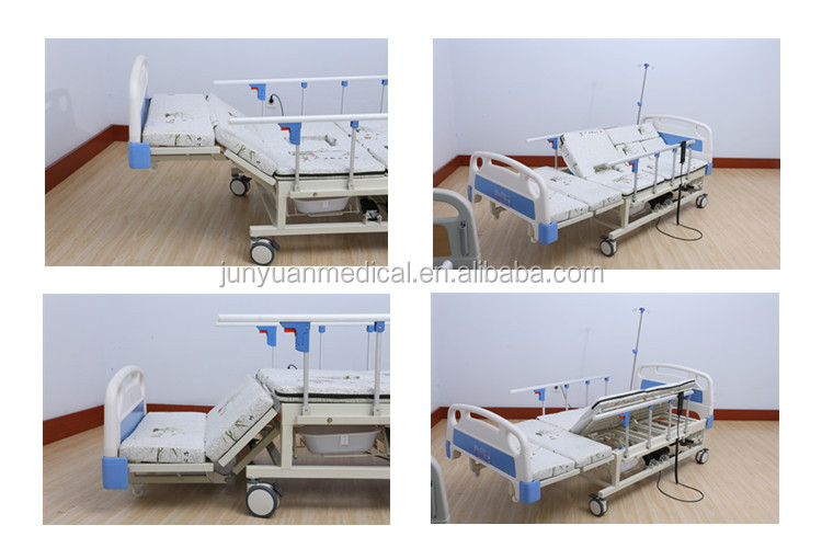 Best price backrest adjustable clinic/hospital used examination hospital bed electric and hydraulic control with toilet
