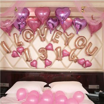 Wedding Birthday Party Supplies Foil Balloon I Love You Happy Decoration