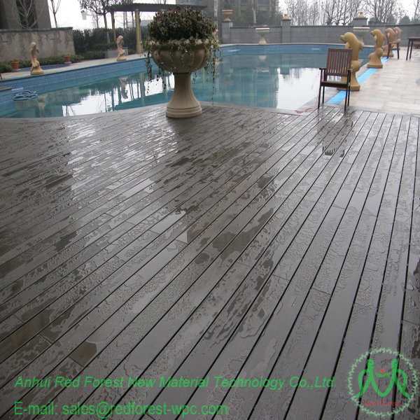 Wpc deck flooring wood plastic composite deck wpc for for Plastic composite decking