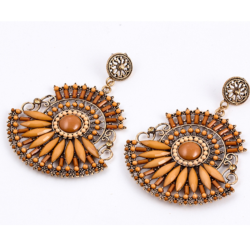 Bohemia Fashion Statement Crystal Beads Crew Earring, Alibaba Express Wholesale Earrings Jewelry