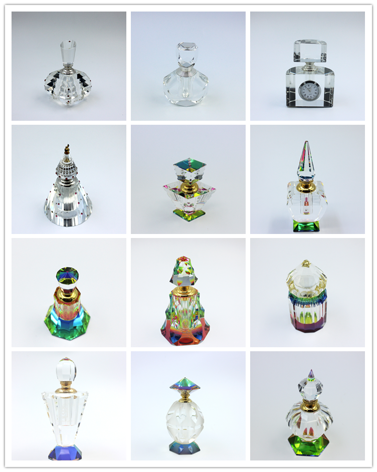 Wholesale Mini Octagonal Shape Arabian Attar Oud Essencial Oil Glass Bottle  Matching Super Metal Caps With Glass Stick