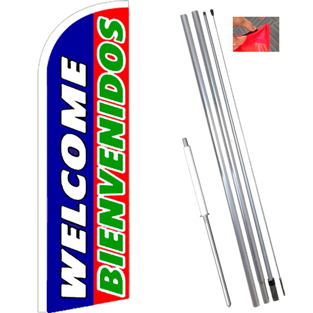 Pack of 15 Hardware not Included BBQ King Windless Feather Flag Sign