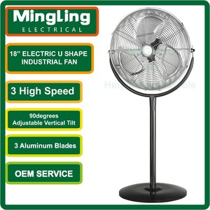 u shape stand aluminum blade eletric industrial fan