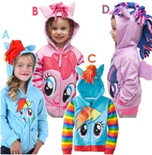 1PCS New 2015 Girls My little pony Kids Jacket Children's Coat Cute Girls Coat &Hoodies & Girls Jacket Children Clothing Cartoon
