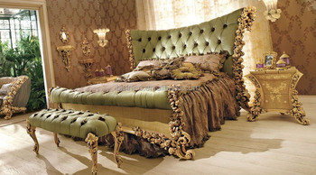 Bisini French Louis Hand Carving Wooden Inlay Bedroom Set/Classic ...
