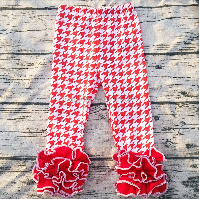 2016 wholesale children's boutique clothing red houndstooth leggings