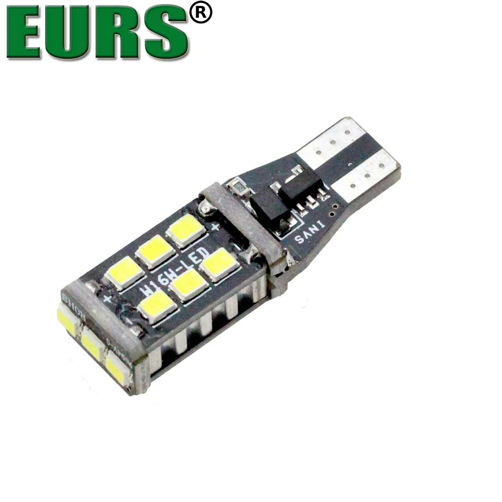 EURS Factory Direct Price CANBUS 2835 15SMD T15 universal car turn signal led lamp