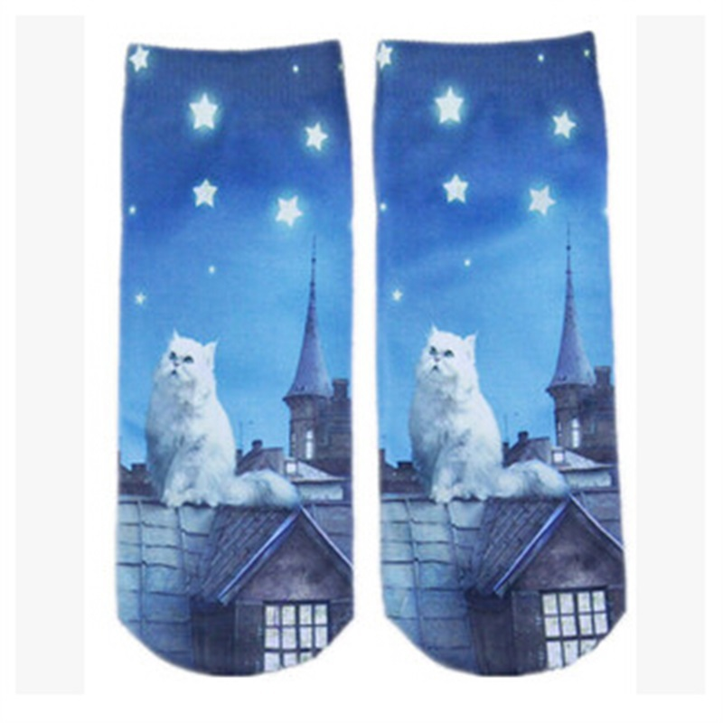 609a2026ffef Get Quotations · Variety OF Colors TO Choose 3D Animal Print Casual Women  Cute Cartoon Sock Ankle Socks For