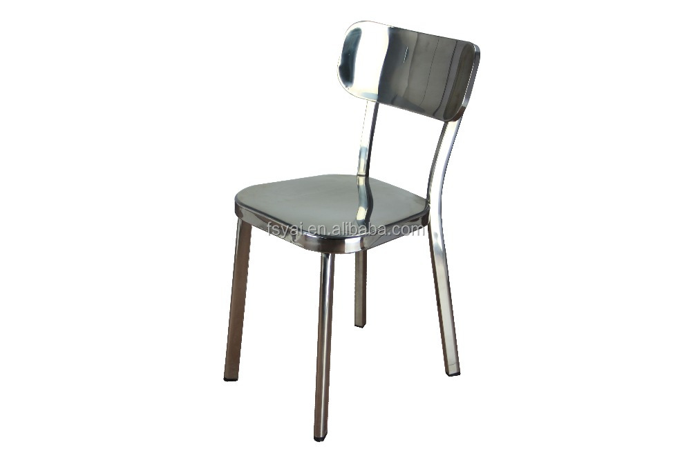Modern polishing french style dining home furniture stainless steel cafe chair