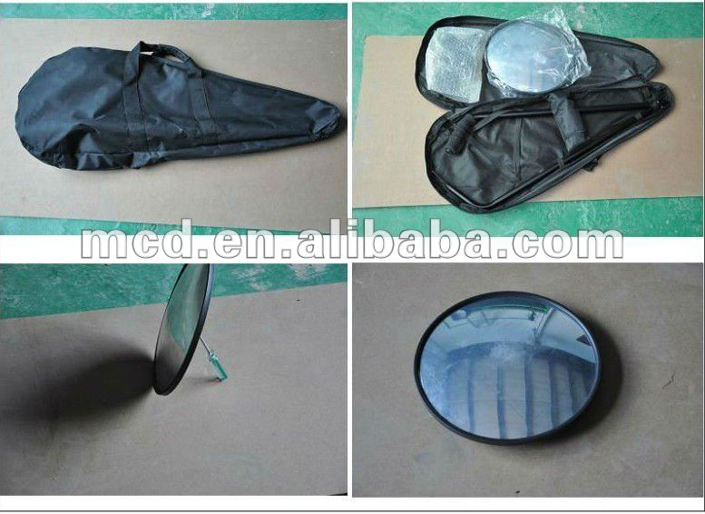MCD-V3 under vehicle inspection/searching mirror security checking mirror with Wheels including integral Light fitting