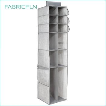 16 Compartment Fabric Closet Hanging Shoe Organizer Racks Storage