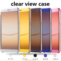 Clear View Cover flip leather case For Oppo R9 Plus Smart Clear View Mirror Leather Flip case