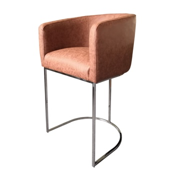 New design American event furniture silver stainless steel modern leather bar counter stools