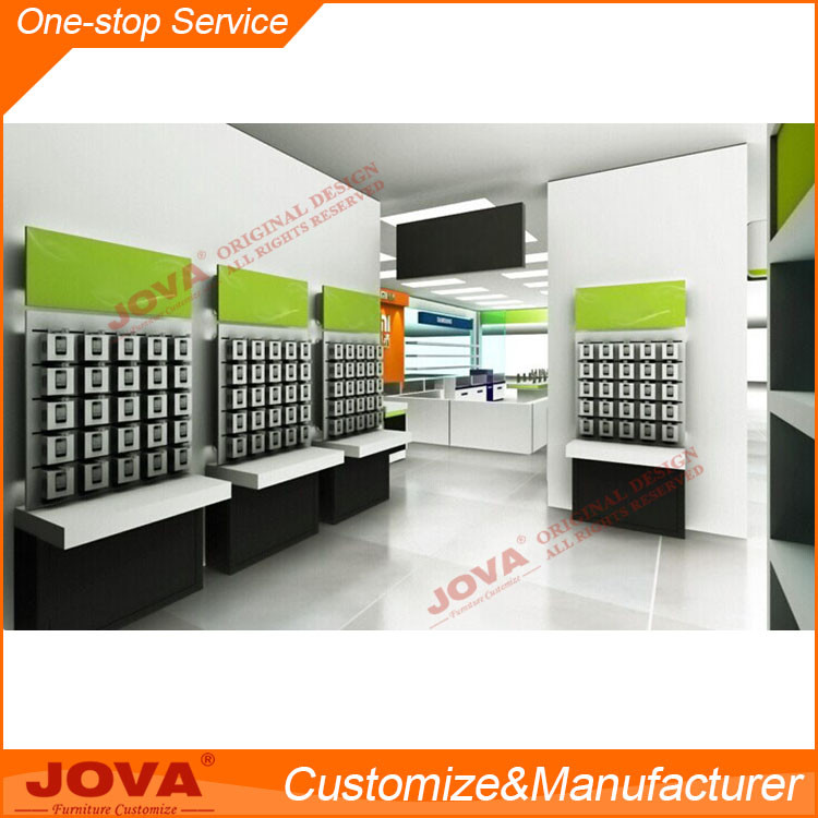 Mobile Phone Shop Interior Design And Decoration Work For Chain Retail Counter