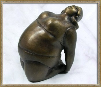 hand made thai solid bronze sculpture pose ustrasana yoga