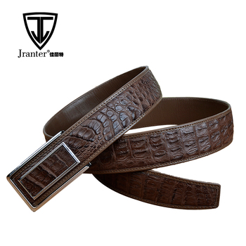 Handmade Custom Logo Genuine Leather Belts With Stainless Steel Buckle For Business Man