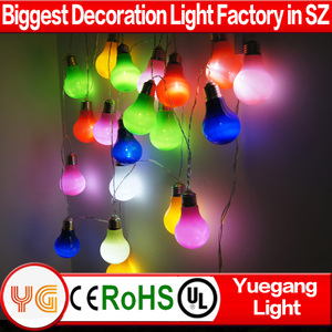 220V Multi-color Edison Bulb Factory wholesale led round ball christmas lights RGB ball string for holiday lighting