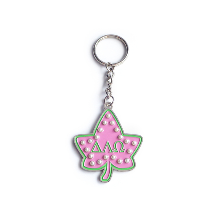 Promotion Cheap Custom Leaf Shape Keychain