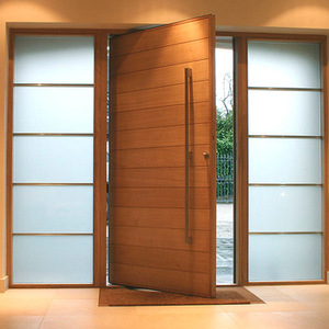 High quality pivot wooden doors design house main gate front rotate wooden door