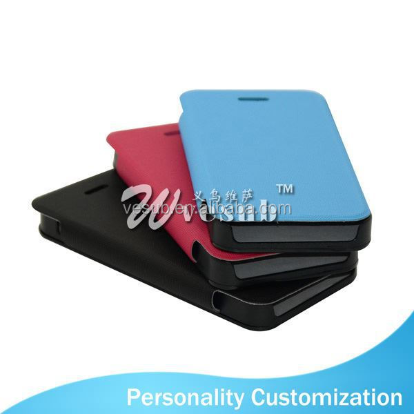 Sublimation leather wallet phone Case PU wallet 2d blank sublimation For Iphone 5