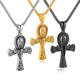 New Design Mens Jewelry 316L Stainless Steel Ankh Cross Pendant Necklace Custom