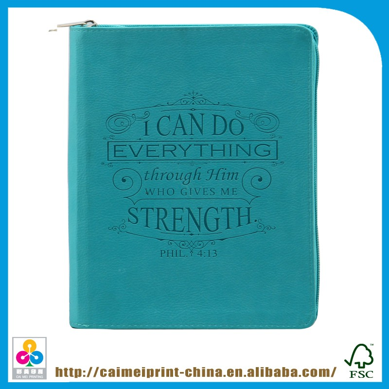 Shenzhen Leather Book Cover With Zipper Sewn Binding