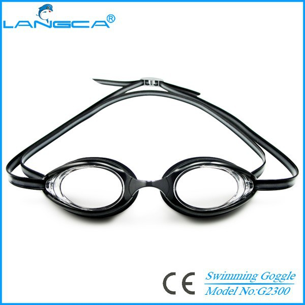 Popular waterproof race swimming goggles