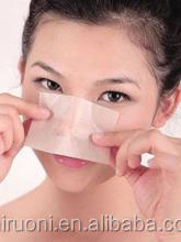 Absorb oil but leave water skincare oil blotting paper