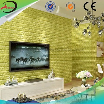 3d Economical Foam Brick Panels Moisture Resistant Wallpaper 3d ...