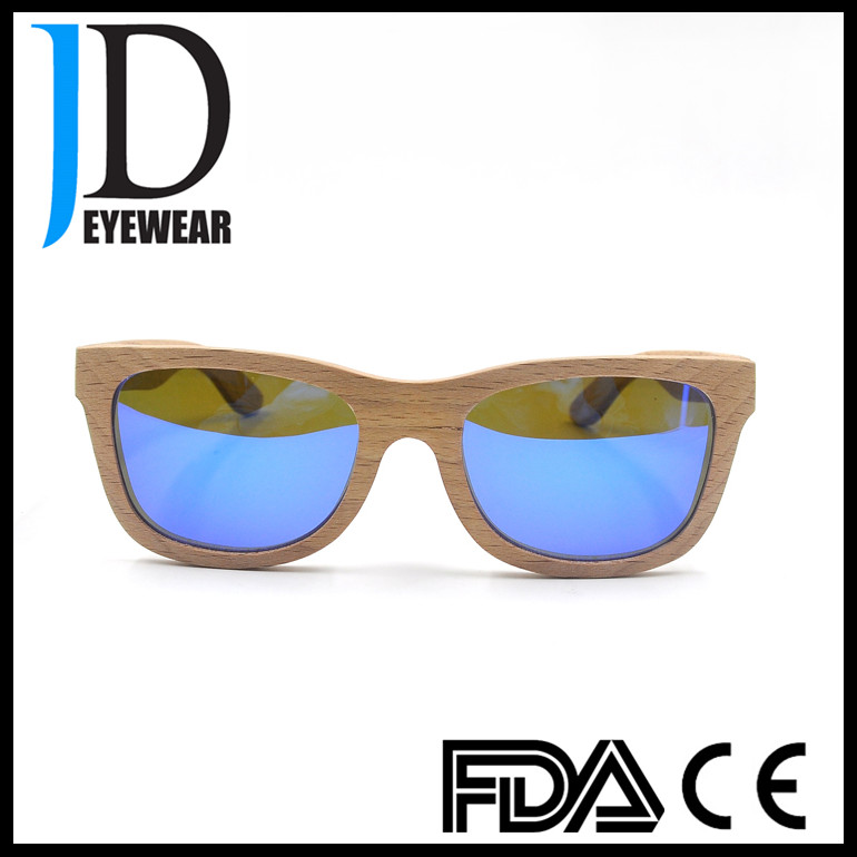 2016 Hot Wooden Sunglasses Fashionable men sunglases with spring hinge