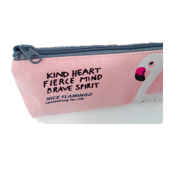 Wholesale fabric personalized logo grid sublimation school custom zipper pencil case bag