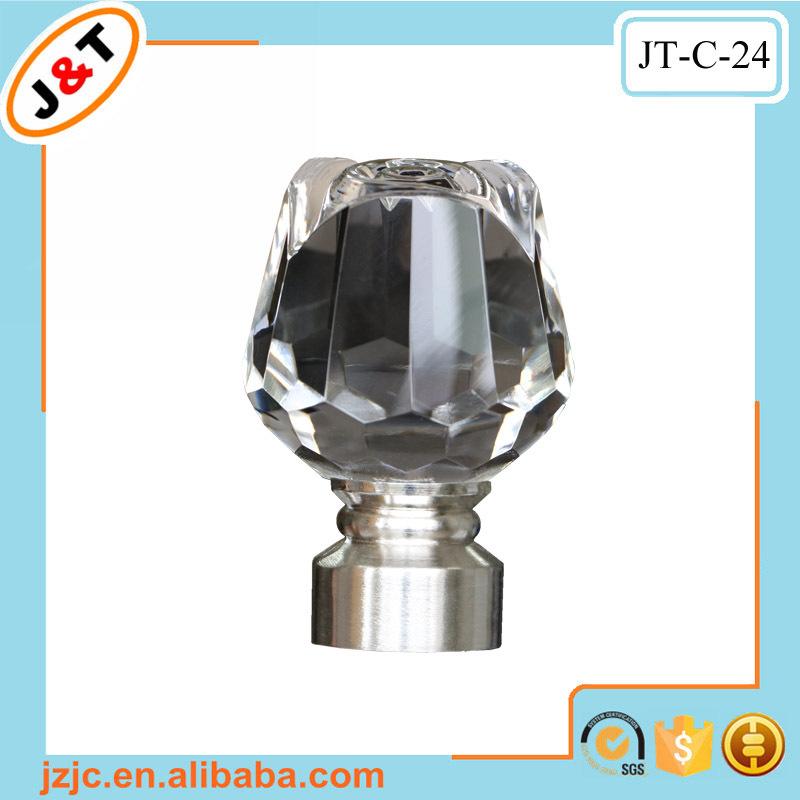 High Quality Diamond Crown Finial Curtain Rod Curtain Pole