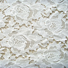 white floral crocheted 100% cotton water solubility embroidery dubai fabric 3d lace