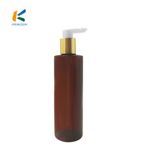 24mm aluminum gold sleeve screw up plastic lotion pump for pet bottle