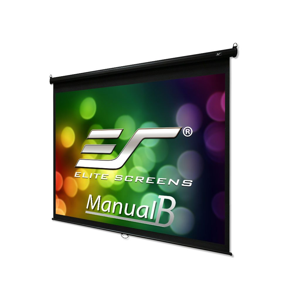 Elite Screens Manual B, 120-INCH 4:3, Manual Pull Down Projector Screen 4K/8K Ultra HDR 3D Ready with Slow Retract Mechanism, 2-YEAR WARRANTY, M120V